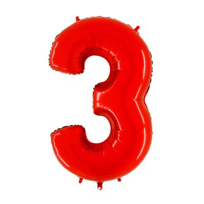 Número 3 - Vermelho